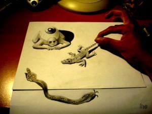 dessins trompe-l'oeil