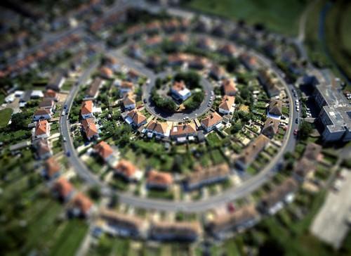 Photographies de villes avec l'effet tilt shift