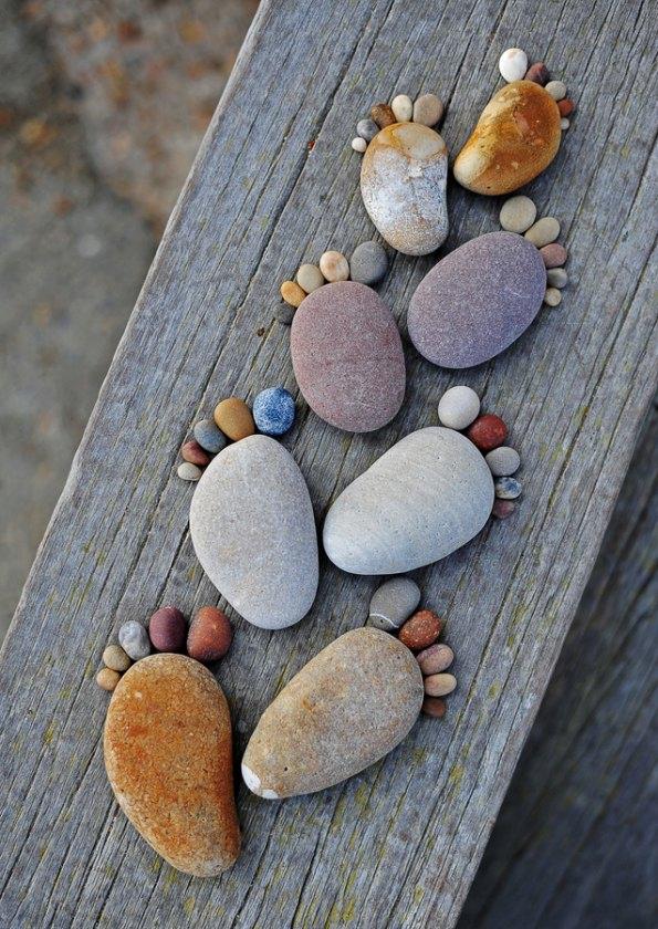 Land Art - Les pieds de Iain Blake