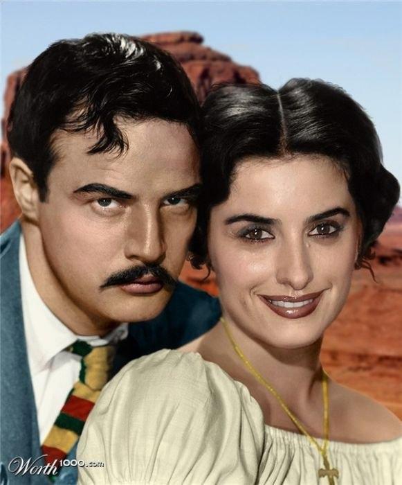 Marlon Brando couple