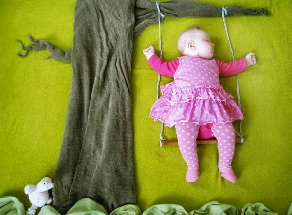 Фотосессия грудничка в домашних условиях