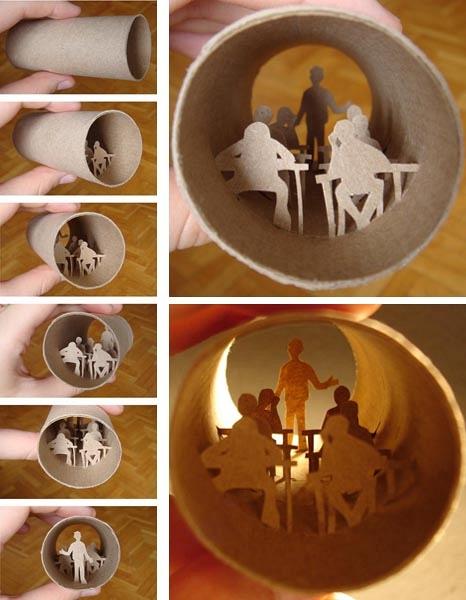 Super Art Miniature sur rouleaux de papier toilette par Anastasia Elias JU54