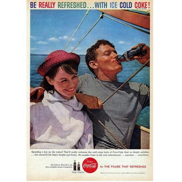 PUB COCA COLA VINTAGE 10 Sélection de publicités Coca Cola vintages