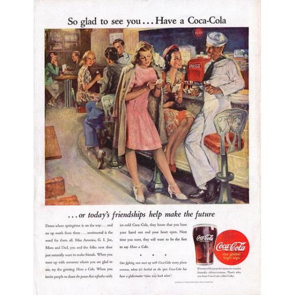 PUB COCA COLA VINTAGE 11 Sélection de publicités Coca Cola vintages