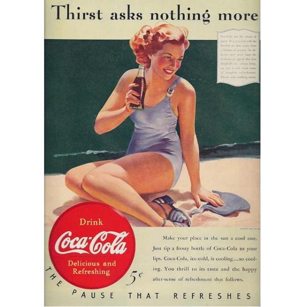 PUB COCA COLA VINTAGE 14 Sélection de publicités Coca Cola vintages