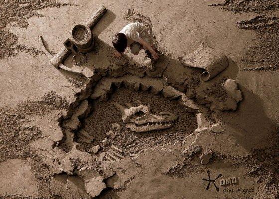 Sculptures sable