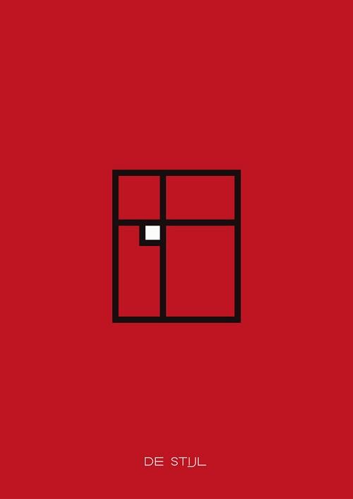 Affiches minimalistes sur les principales tendances et for Mouvement minimaliste