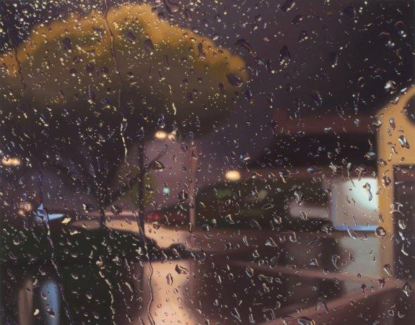 peinture la pluie sur les pare brise des voitures. Black Bedroom Furniture Sets. Home Design Ideas