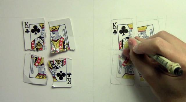 Hyperréalisme - Reproduction d'une carte à jouer