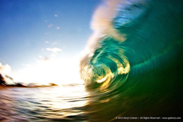 vagues à Hawaï