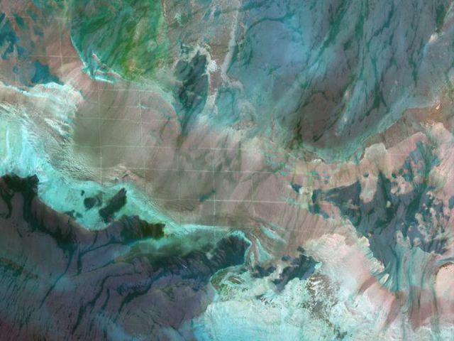 Bahreïn - grille sur le fond de la mer
