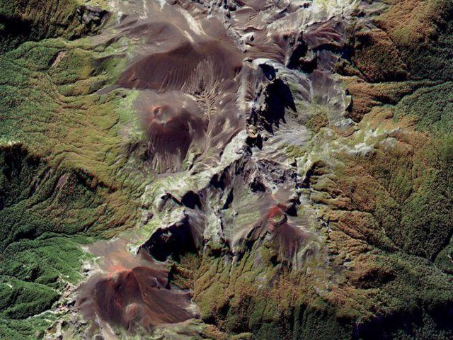 Chili - Andes chaîne volcanique