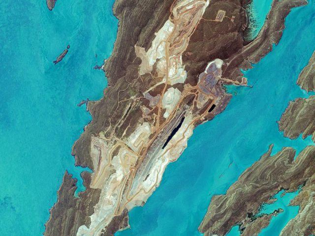 Mine de minerai de fer a Koolan en Australie