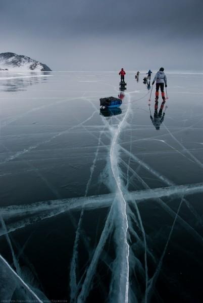 lac Baikal gele wikilins 11 Le lac Baïkal gelé par Daniel Korzhonov