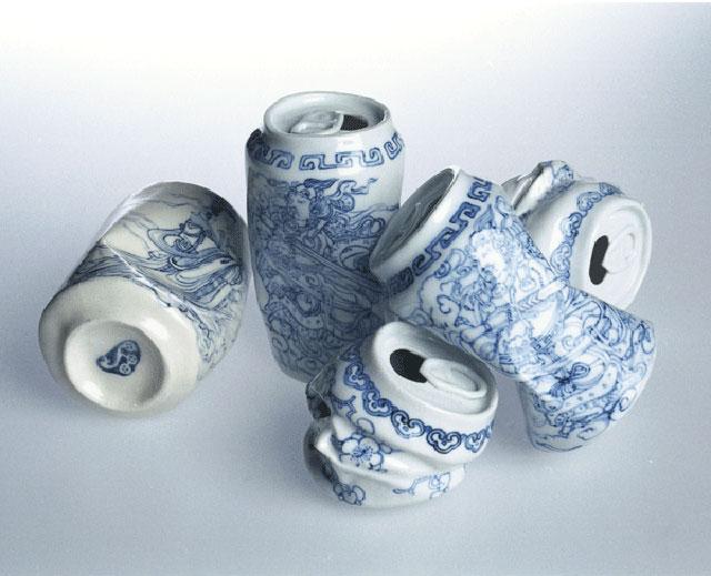 Canettes en porcelaine