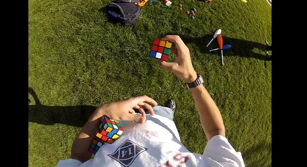 Rubiks cube jongleur