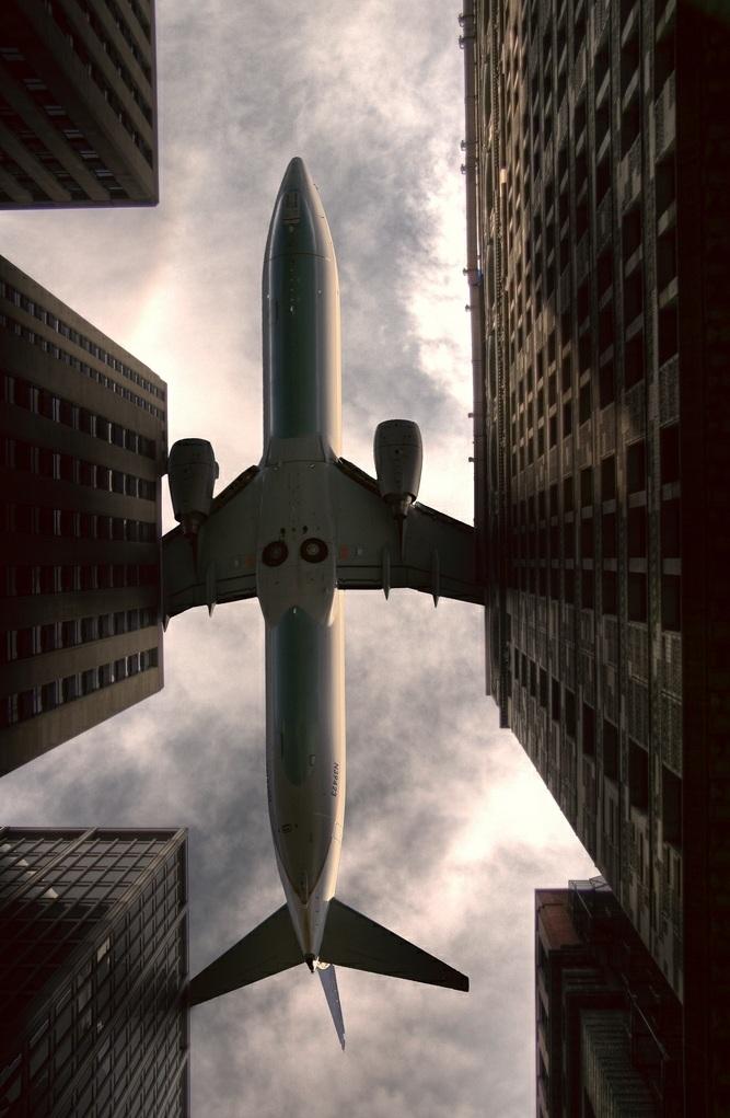 avion au dessus de Chicago