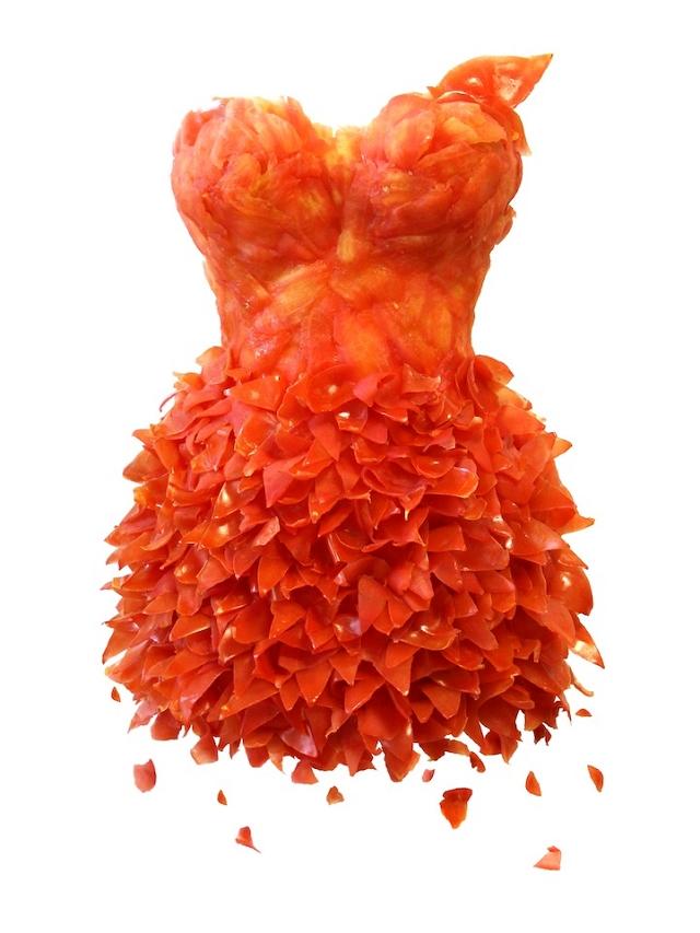 Vêtement comestible - tomate