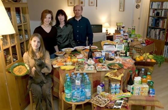 la nourriture consomm e par une famille en une semaine. Black Bedroom Furniture Sets. Home Design Ideas