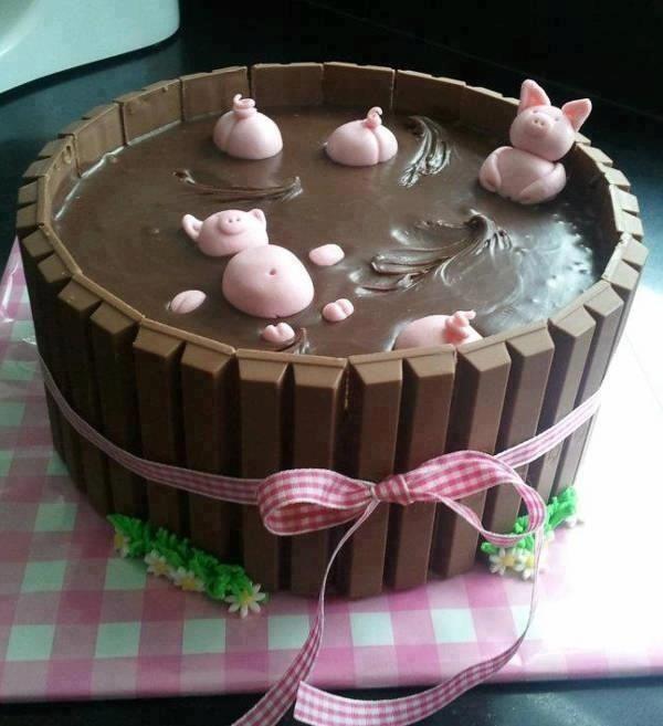 La piscine en chocolat pour petits cochons