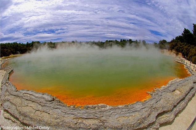 Réserve thermale de Waiotapu en Nouvelle-Zélande