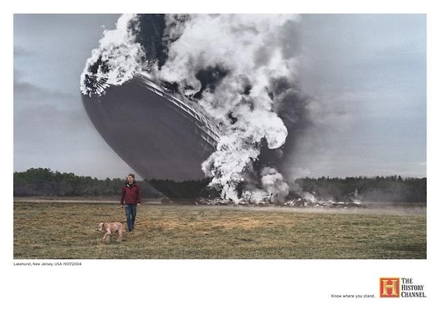 la catastrophe du Hindenburg en 1937