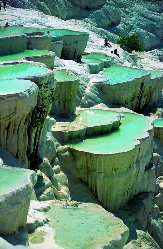piscines naturelles de Pamukkale en Turquie