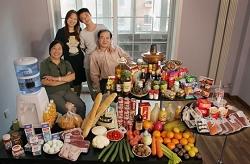 La nourriture consommée par une famille en une semaine