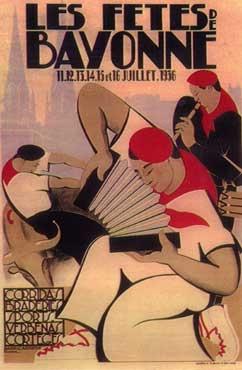 affiche-des-fetes-de-Bayonne-en-1936