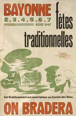 affiche-des-fetes-de-Bayonne-en-1947