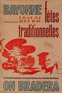 affiche-des-fetes-de-Bayonne-en-1949