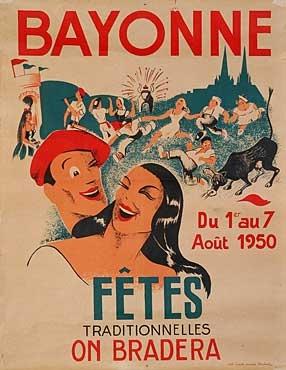 affiche-des-fetes-de-Bayonne-en-1950