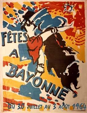 affiche-des-fetes-de-Bayonne-en-1954