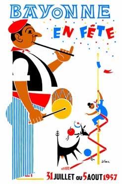 affiche-des-fetes-de-Bayonne-en-1957