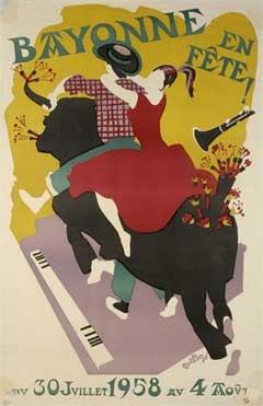 affiche-des-fetes-de-Bayonne-en-1958