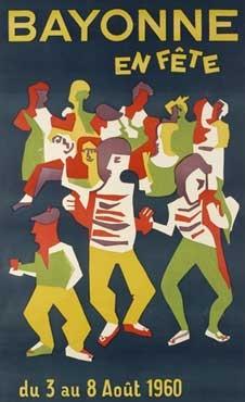 affiche-des-fetes-de-Bayonne-en-1960