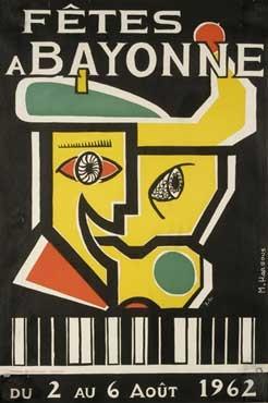 affiche-des-fetes-de-Bayonne-en-1962