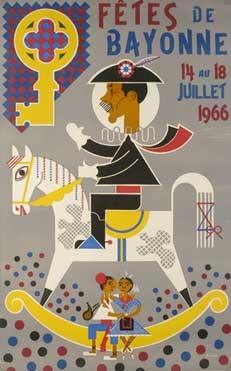 affiche-des-fetes-de-Bayonne-en-1966