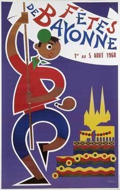 affiche-des-fetes-de-Bayonne-en-1968