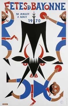 affiche-des-fetes-de-Bayonne-en-1970
