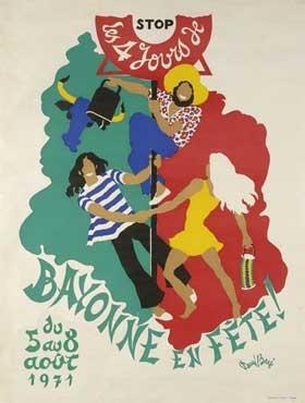 affiche-des-fetes-de-Bayonne-en-1971
