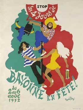affiche-des-fetes-de-Bayonne-en-1972