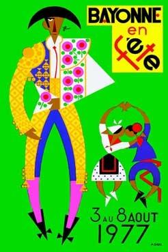 affiche-des-fetes-de-Bayonne-en-1977