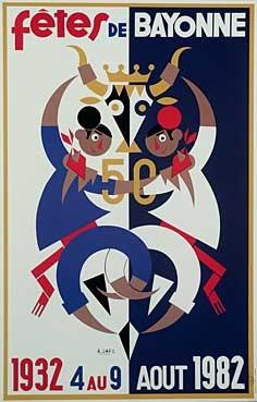affiche-des-fetes-de-Bayonne-en-1982