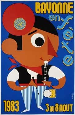 affiche-des-fetes-de-Bayonne-en-1983