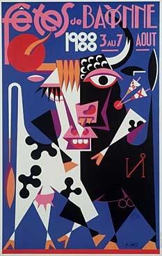affiche-des-fetes-de-Bayonne-en-1988