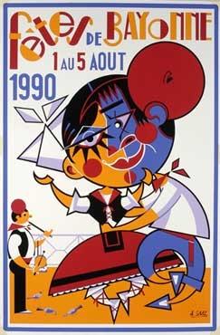 affiche-des-fetes-de-Bayonne-en-1990