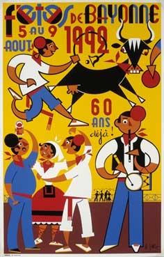 affiche-des-fetes-de-Bayonne-en-1992