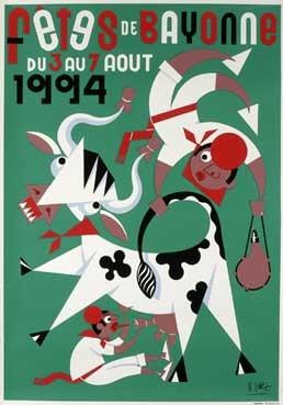 affiche-des-fetes-de-Bayonne-en-1994
