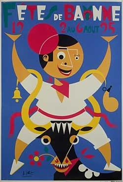 affiche-des-fetes-de-Bayonne-en-1995